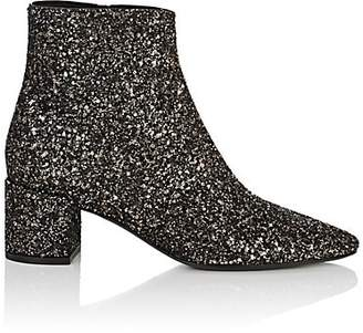 Saint Laurent Women's Loulou Glitter Ankle Boots - Black