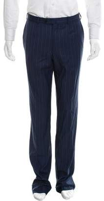 Isaia Striped Wool Pants