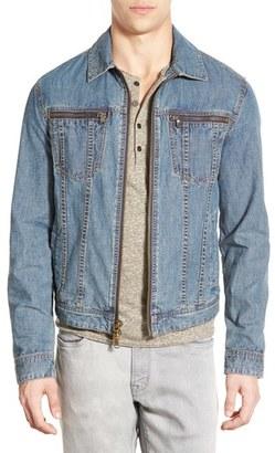 John Varvatos Star USA Zip Front Denim Jacket $298 thestylecure.com