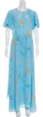 Diane von Furstenberg Flutter Sleeve Crew Neck Maxi Dress w/ Tags
