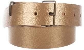 Dries Van Noten Textured Metallic Belt