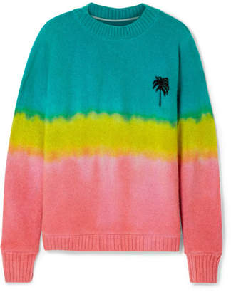 The Elder Statesman Oversized Tie-dyed Cashmere Sweater - Green