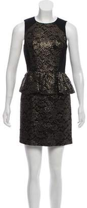 Tibi Lace Metallic Dress