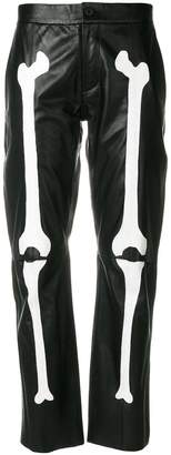 Yang Li bone print trousers