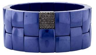 Roberto Demeglio 18K Diamond & Blue Ceramic Domino Bracelet Blue Roberto Demeglio 18K Diamond & Blue Ceramic Domino Bracelet