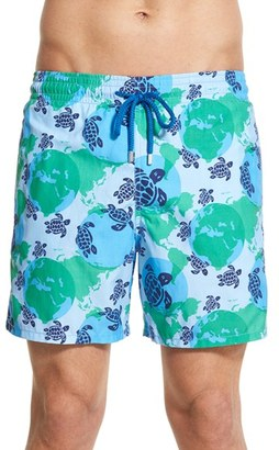 Men's Vilebrequin 'Moorea - World Map' Print Swim Trunks $250 thestylecure.com