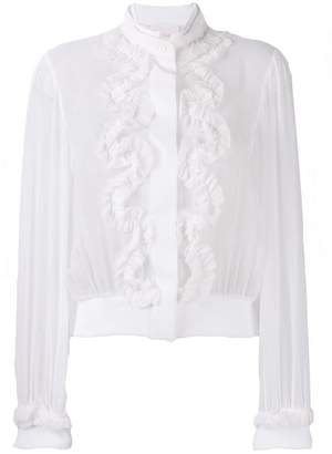 Genny ruffle front blouse