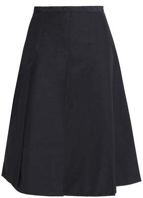 Rochas Pleated Cotton-Blend Skirt