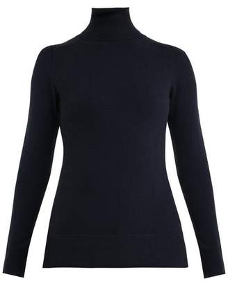 Blend of America Joostricot - Roll Neck Cotton Sweater - Womens - Navy