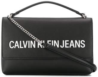 Calvin Klein embossed logo satchel