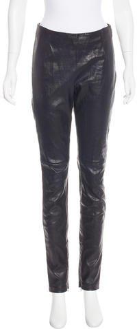 Christian Dior Leather Leggings