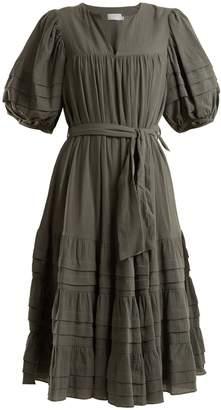 Zimmermann Kali tuck-detail cotton dress