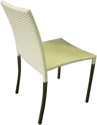 Roger Vivier R&V Living Olivia Dining Chair in White with Square Tube Legs