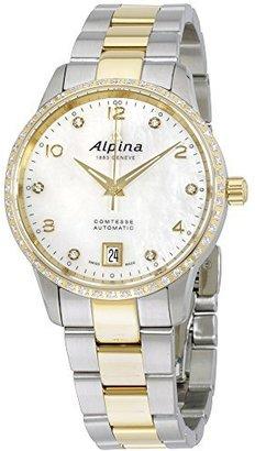 Alpina Mop Dial Two ToneステンレススチールLadies Watch al525apwd3cd3b