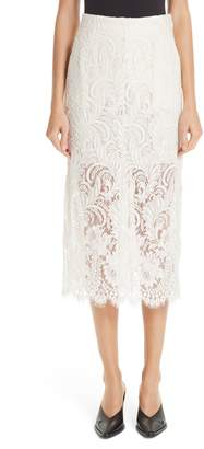 Stella McCartney Lace Overlay Midi Pencil Skirt