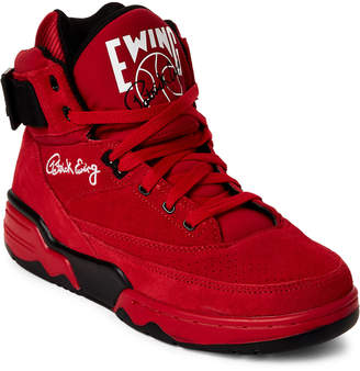 Replay Patrick Ewing Red Ewing 33 High-Top Suede Sneakers