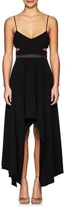 Halston Women's Cutout Crepe Sleeveless Dress