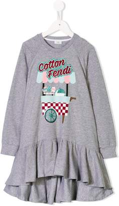 Fendi Kids Cotton sweatshirt dress