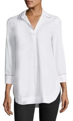 Piazza Sempione Collared V-Neck Shirt