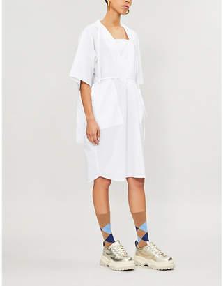 MM6 MAISON MARGIELA V-neck cotton-poplin shirt dress