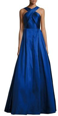 ML Monique Lhuillier Halter Ball Gown $695 thestylecure.com