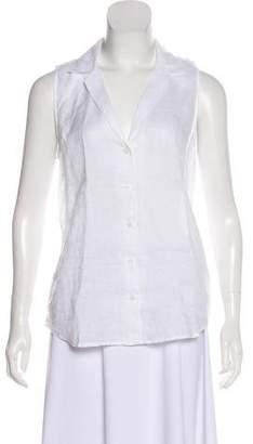 Equipment Linen Sleeveless Button-Up Top