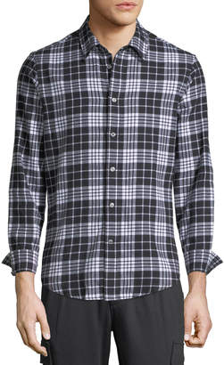 Slate & Stone Men's Casual Plaid Point-Collar Button-Down Shirt