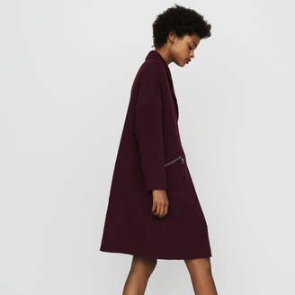 Maje Coat in double-face wool