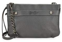 Jessica Simpson Logo Faux Leather Crossbody Bag