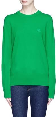 Acne Studios 'Nalon S Face' patch wool sweater