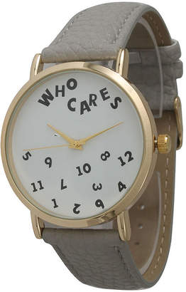 BEIGE OLIVIA PRATT Olivia Pratt Womens Gold-Tone Multi-Color Floral Print Dial Leather Strap Watch 14181