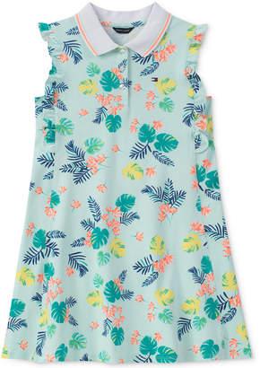 Tommy Hilfiger Palm-Print Polo Dress, Big Girls
