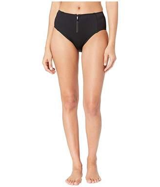 0b319673eb Kate Spade Marco Island High-Waisted Bikini Bottoms w/ Bow Zipper Pull