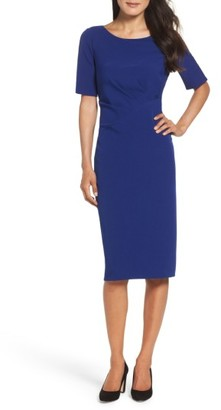 Women's Adrianna Papell Crepe Midi Dress $130 thestylecure.com