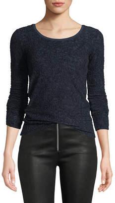 Rag & Bone Collier Textured Jacquard Long-Sleeve Top