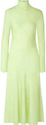 By Malene Birger Welecio Silk-blend Turtleneck Midi Dress - Light green