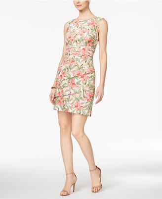 Connected Floral-Print Sheath Dress $69 thestylecure.com