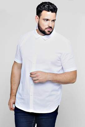 boohoo Big And Tall Short Sleeve Oxford Shirt
