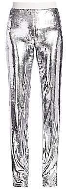 Helmut Lang Women's Metallic Velvet Straight-Leg Pants