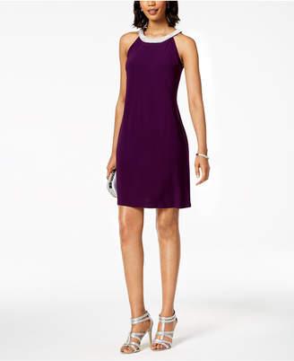 MSK Rhinestone-Embellished Shift Dress, Regular & Petite Sizes