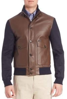 Façonnable Men's Ribbed Hybrid Blouson Jacket - Derby - Size Medium