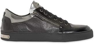 Metallic & Embossed Leather Sneakers
