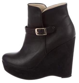 Stella McCartney Vegan Leather Wedge Boots