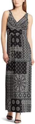 Chaps Women's Vine Empire Maxi Dress