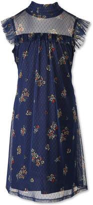 Speechless Short Sleeve Flutter Sleeve Floral A-Line Dress - Big Kid Girls