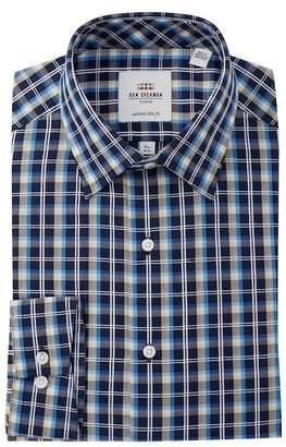 Ben Sherman Check Tailored Slim Fit Dress Shirt