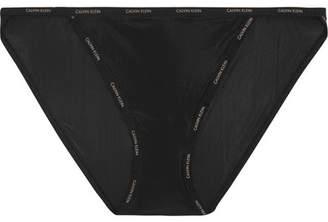 Calvin Klein Underwear - Sheer Marq Stretch Briefs - Black $20 thestylecure.com