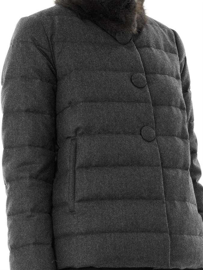 Moncler Cirse fur-collar quilted down jacket