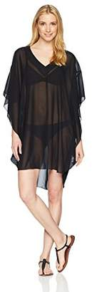Maxine Of Hollywood Women's V-Neck Kimono Sleeve Kaftan Dress