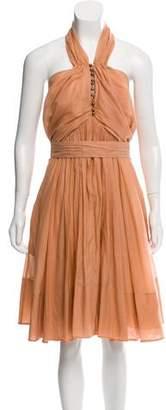 Sonia Rykiel Silk-Blend Halter Dress